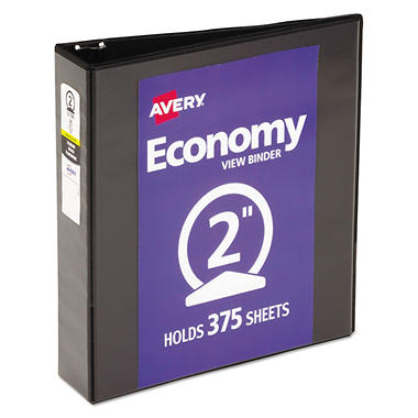 Avery Economy Vinyl Round Ring View Binder, 2