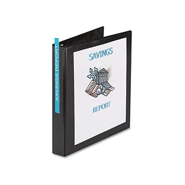 Avery Durable Slant D-Ring Reference View Binder, Black, Select Size