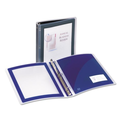 "Avery Lightweight Flexi-View Presentation Binder, 1"" Capacity, Black"