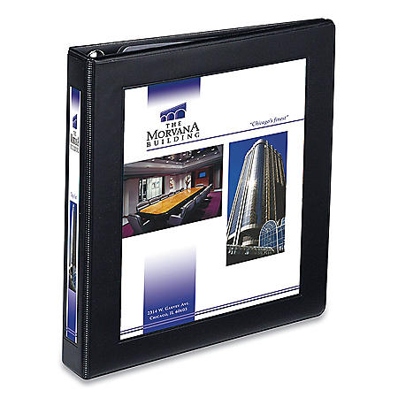 "Avery Framed View Heavy-Duty Binders, 3 Rings, 1"" Capacity, 11 x 8.5, Black"