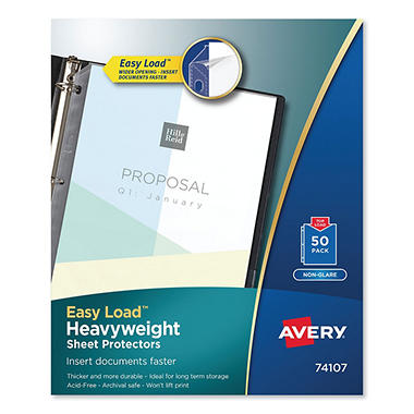 Avery - Heavyweight Sheet Protectors, Non-Glare - Various Counts
