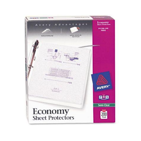 Avery - Economy Sheet Protectors, Semi-Clear - Various Counts