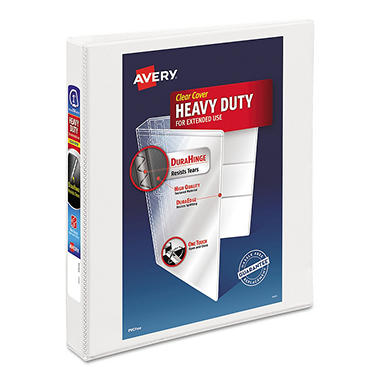Avery Nonstick Heavy-Duty EZD Reference View Binder, White, Select Size