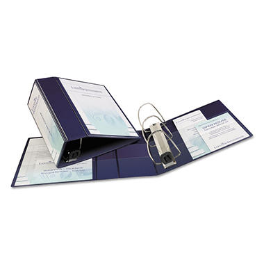 Avery Nonstick Heavy-Duty EZD Reference View Binder, Navy, Select Size