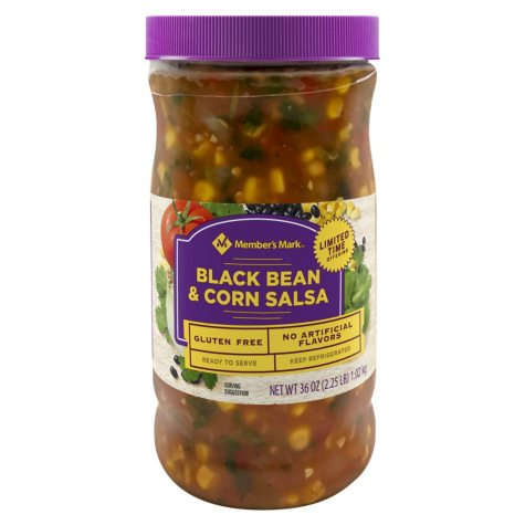 Italian Rose Black Bean and Corn Salsa, Mild (48 oz.)