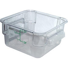 Carlisle Square Plastic Food Storage Container, Clear - 2 Quart