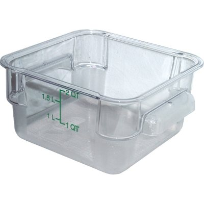 Carlisle Square Plastic Food Storage Container (Choose Your Size U0026 Color)