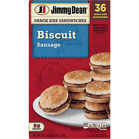 Jimmy Dean Snack Size Sausage Biscuits, Frozen (36 ct.)