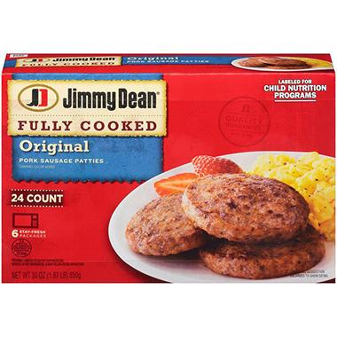 Jimmy Dean Pork Sausage Patties 24 Ct