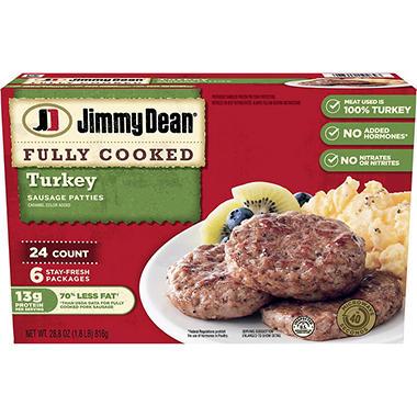 Jimmy Dean Turkey Sausage Patties (24 ct.) - Sam's Club
