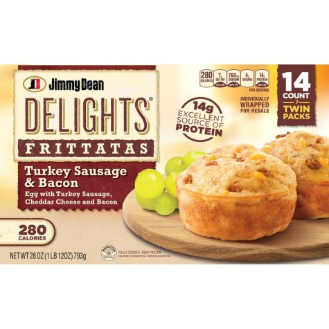 Jimmy Dean Delights Frittatas, Turkey Sausage & Bacon (28 oz., 14 ct.)