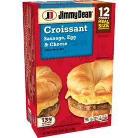 Jimmy Dean Sausage, Egg & Cheese Croissant (12 ct.)