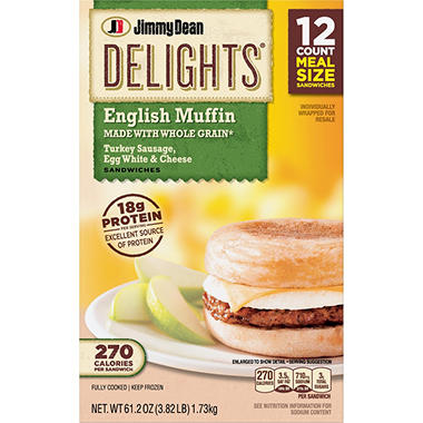 Jimmy Dean Delights Turkey Sausage Egg White Cheese English