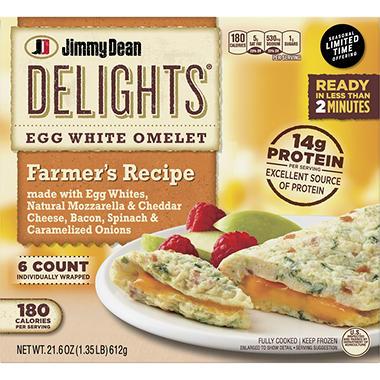 Jimmy Dean Delights Farmer S Recipe Egg White Omelet 21 6 Oz 6 Ct