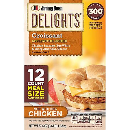 Jimmy Dean Delights Croissant Sandwiches (57.6 oz., 12 ct.)