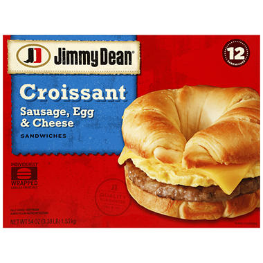 Jimmy Dean Sausage, Egg and Cheese Croissant - 12 ct.