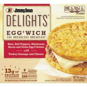 Jimmy Dean Delights Egg'wich Breakfast Frittatas (8 ct.)