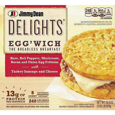 Jimmy Dean Delights Eggwich Breakfast Frittatas 8 Ct Sams Club