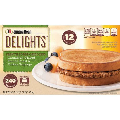 Jimmy Dean Delights French Toast Griddlers - 12 ct.