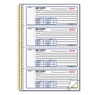 Money Receipt Books - 2-3/4