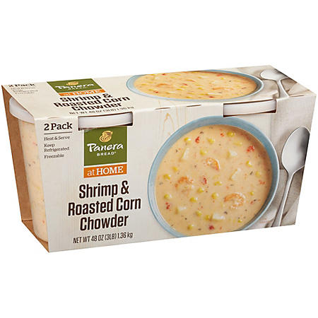 Panera Bread Shrimp and Corn Chowder (48 oz., 2 pk.)