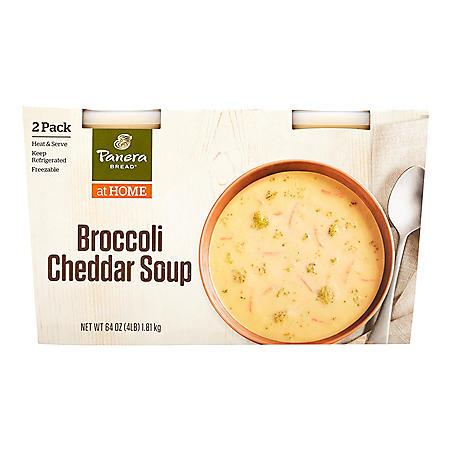 Panera Bread Broccoli Cheddar Soup (32 oz., 2 pk.)