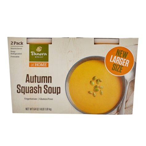 Panera Bread Autumn Squash Soup (32 oz. tubs, 2 pk.)
