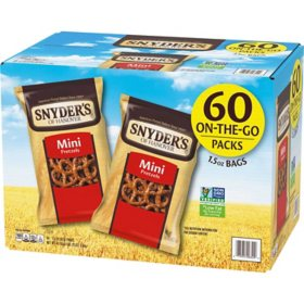 Snyder's Mini Pretzels (1.5 oz., 60 ct.)