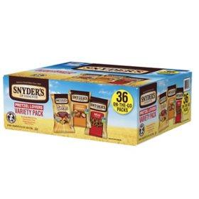 Snyder's of Hanover Pretzel Lovers Variety Pack (36 pk.)