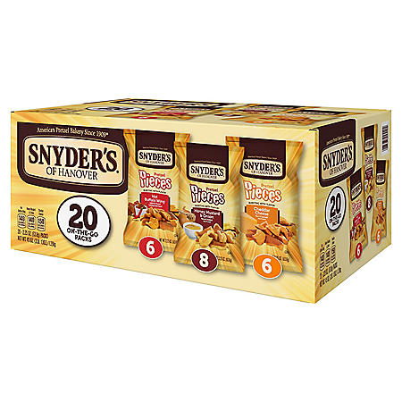 Snyder's of Hanover Pretzel Pieces Variety Pack (2.25 oz., 20 ct.)