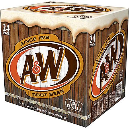 A&W Root Beer (12 fl. oz., 24 pk. )