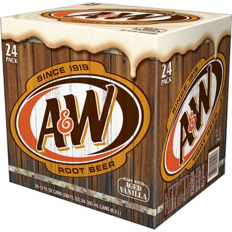A&W Root Beer (12 oz. cans, 24 pk. )