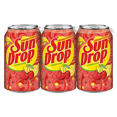 Sun Drop Cherry Lemon Citrus Soda (12oz / 24pk)