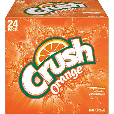 Crush Orange Soda (12 oz. cans, 24 pk,)