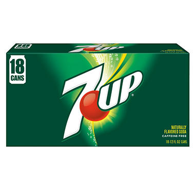 7UP (12 oz. cans, 18 pk.)