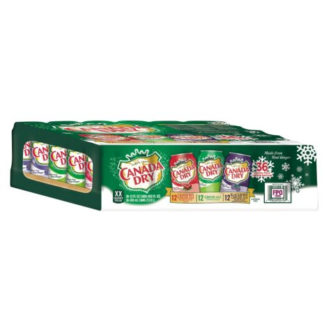 CANADA DRY VARIETY 36PK 12OZ CANS