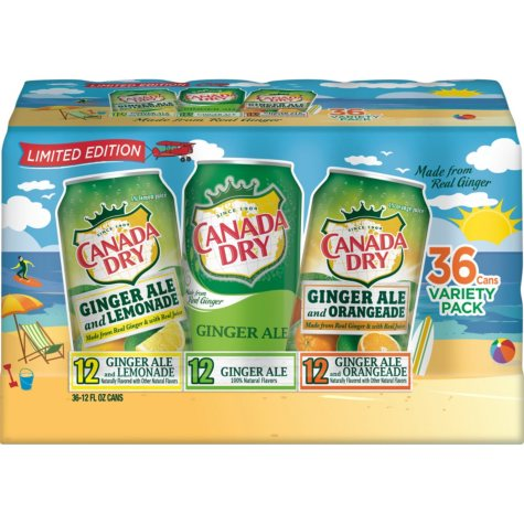 Canada Dry Ginger Ale Variety (12 fl. oz., 36 pk.)