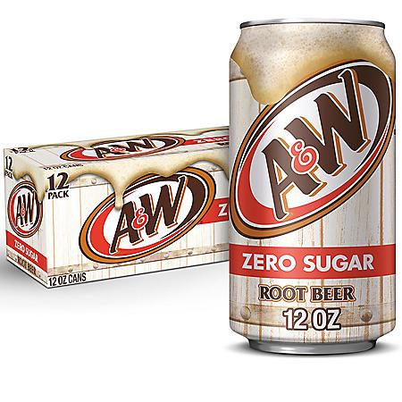 Diet A&W Root Beer (12oz / 12pk)