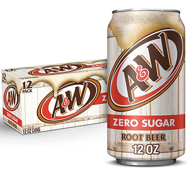 A&W Diet Root Beer (12 oz., cans, 12 pk.)