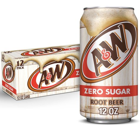 Diet A&W Root Beer (12 oz. cans, 12 pk.)