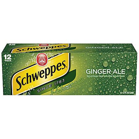 Schweppes Ginger Ale (12oz / 12pk)