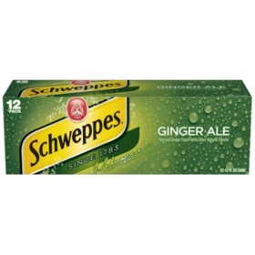 Schweppes Ginger Ale (12 oz. cans, 12 pk.)
