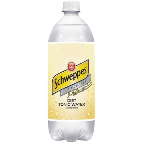 Diet Schweppes Tonic Water (1 L, 15 pk.)