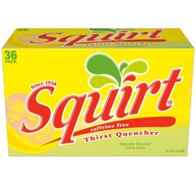 Squirt Citrus Soda (12 oz. cans, 36 pk.)