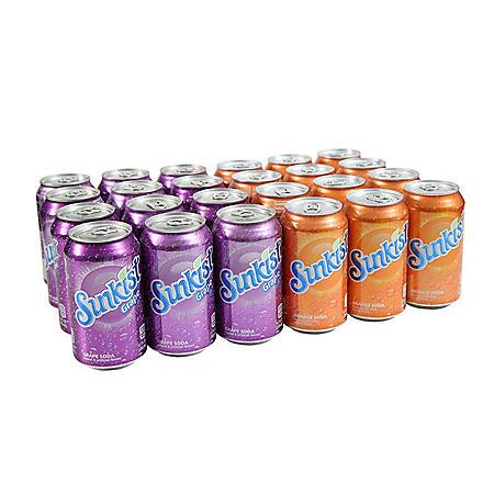 Sunkist Grape & Orange Soda (12oz / 24pk)
