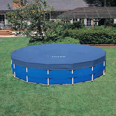 intex family sized metal frame above ground pool set 18