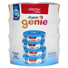 Playtex Diaper Genie, 4 Pack Refill - 960 ct.