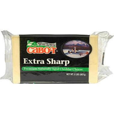 Cabot Extra Sharp White Cheddar Cheese Brick (2 lbs.)