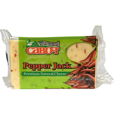 Cabot Pepper Jack Cheese Brick (2 lb.)