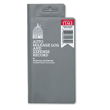 Dome - Auto Mileage Log/Expense Record, 3-1/2 x 6-1/2, 140-Page Book